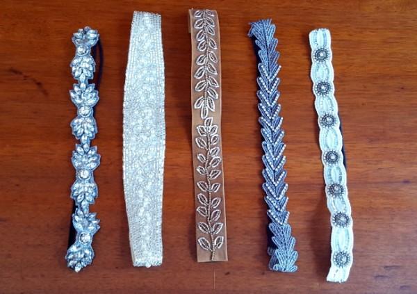 Stirnbänder/Haarbänder in 5 verschiedenen Farben und Ausführungen