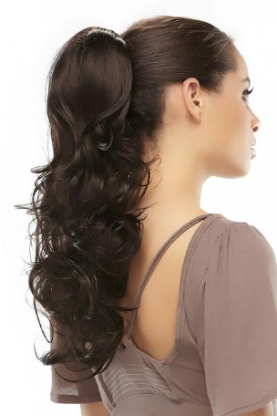 Haarteil Foxy, lange, gewellte Zopfverlängerung
