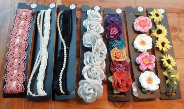 Stirnbänder/Haarbänder in 7 verschiedenen Farben und Ausführungen